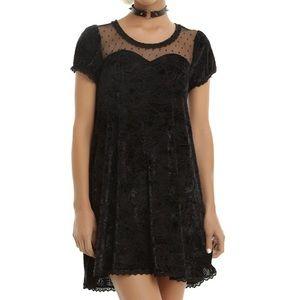 IRON FIST spider velvet dress